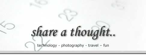 share a thought..: technology - photography - travel – fun
